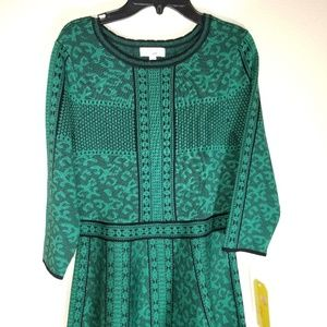 GB Girls Green Black Dress Size XL NWT